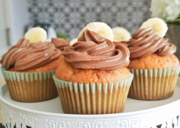 Mes cupcakes banana breadNutella