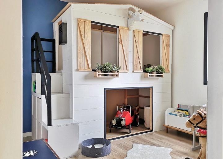 Un lit cabane faitmaison